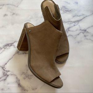 Gianni Bini Rangel Mule Peep Toe Studded Grey NWT